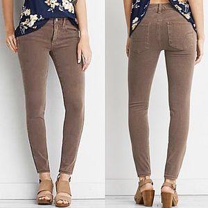 "American Eagle Tan Skinny Stretch Jeans Size 0/31"""